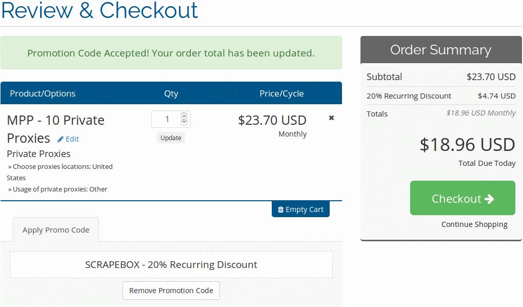 myprivateproxy recurring discount